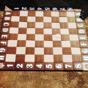 Шахматное поле из плитки