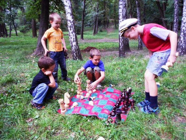 Деревянные большие шахматы