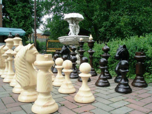 большие деревянные шахматы