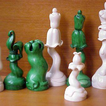 "Шахматы скульптурные ""Цветы в стиле модерн"""