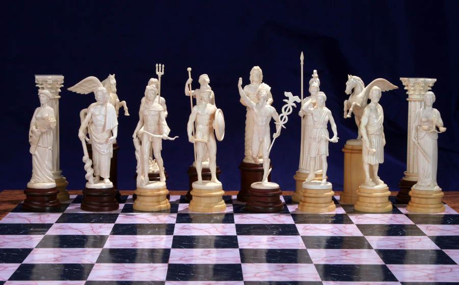 "Скульптурные шахматы ""Олимпийские Боги"""